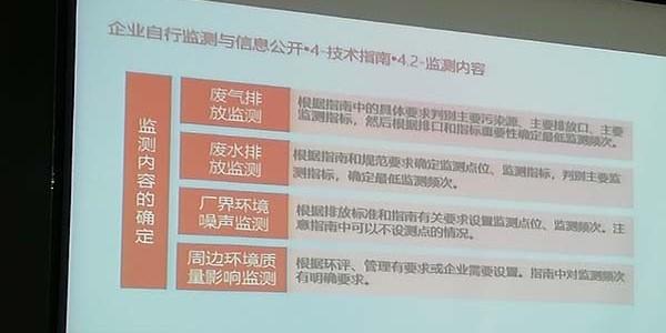 苏州企业自行监测讲座